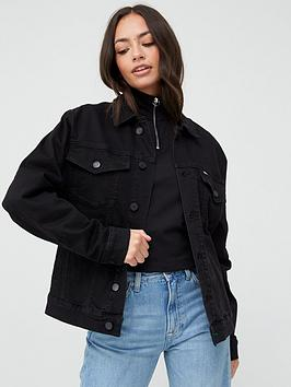 Tommy Jeans Tommy Jeans Oversized Trucker Jacket - Black Picture