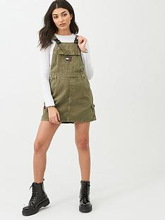 tommy-jeans-dungaree-dress-khaki