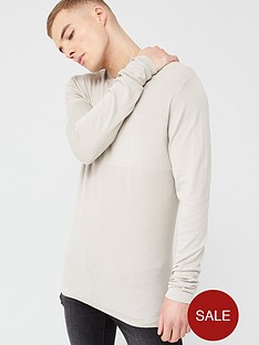 river-island-long-sleeve-slim-fit-knitted-top-stonenbsp