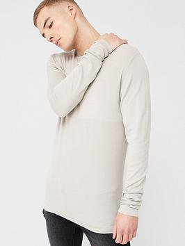 River Island River Island Long Sleeve Slim Fit Knitted Top - Stone Picture