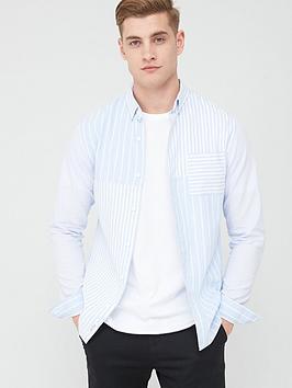 river-island-striped-slim-fit-shirt-bluenbsp