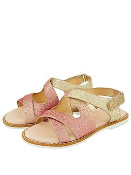 Monsoon Monsoon Girls Ombre Glitter Mariah Comfort Sandal - Gold Picture
