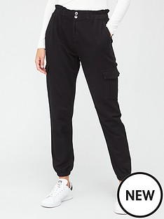 v-by-very-utility-cargo-jogger-black