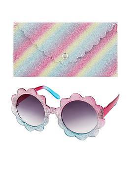 Monsoon   Ombre Glitter Flower Sunnies &Amp; Case