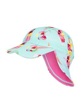Monsoon Monsoon S.E.W. Baby Girls Erica Sunsafe Hat - Turquoise Picture