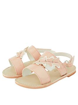 Monsoon Monsoon Baby Girls Bonnie Butterfly Sandal - Pale Pink Picture