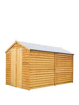 mercia-10x6-value-overlap-dip-treated-windowless-apex-shed-with-installation