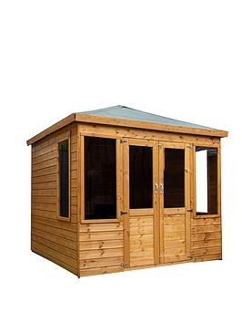 mercia-8x8-premium-tongue-and-groove-dip-treated-clover-summerhouse-with-installation