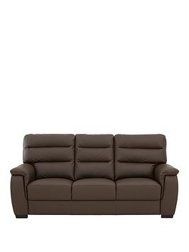 Very Columbus Leather 3 Seater Sofa Picture