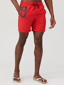 Superdry Superdry Waterpolo Swim Shorts - Red Picture