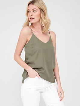 V by Very V By Very Tencel Button Side Cami - Khaki Picture