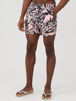 Superdry Superdry Edit Floral Print Swim Shorts - Pink Picture
