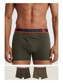 Superdry Superdry Sport Double Pack Boxer - Khaki Picture