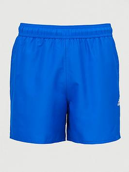 Adidas Adidas Solid Clx Swim Shorts - Blue Picture
