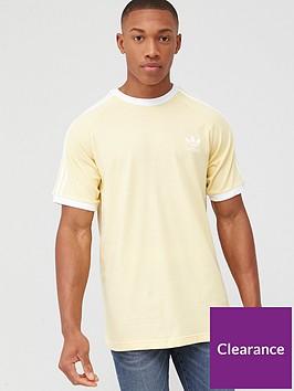 adidas-originals-3nbspstripes-t-shirt-yellow