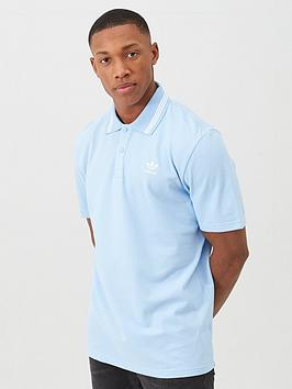 adidas Originals Adidas Originals Pique Polo - Blue Picture