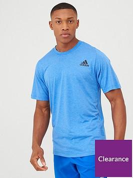 adidas-freelift-sport-heather-t-shirt-blue