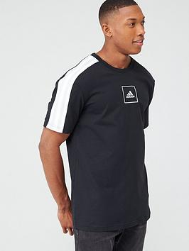Adidas   3-Stripe Tape T-Shirt - Black