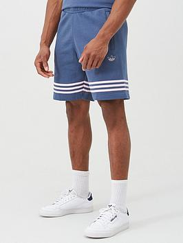 adidas Originals Adidas Originals Outline Shorts - Blue/Pink Picture