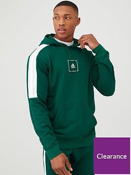 adidas-3-stripe-tape-pullover-hoodie-green