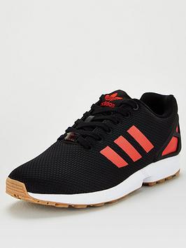 adidas Originals Adidas Originals Zx Flux - Black/White/Red Picture