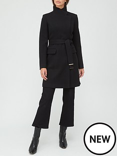 v-by-very-funnel-neck-coat-black
