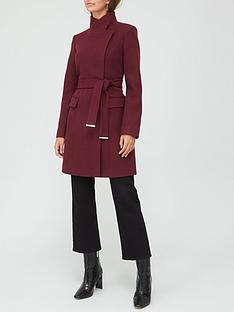 v-by-very-funnel-neck-coat-plum