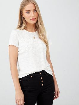 Superdry Superdry Tinsley Embroidery T-Shirt - White Picture