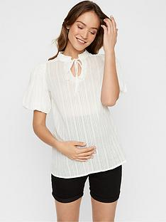 mama-licious-maternity-puff-sleeve-woven-top-white