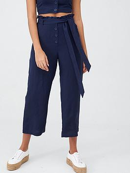 Superdry Superdry Eden Linen Trousers - Navy Picture