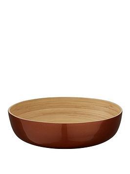 Premier Housewares Premier Housewares Kyoto Metallic Bamboo Salad Bowl  ... Picture