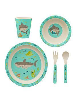 sass-belle-shelby-the-shark-bamboo-tablware-set