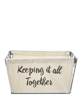 Sass & Belle Sass & Belle Keeping It All Together Wire Storage Basket With  ... Picture