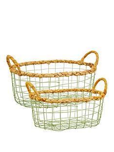sass-belle-set-2-green-wire-storage-baskets