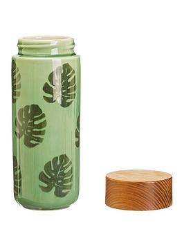 Sass & Belle Sass & Belle Cheese Plant Leaf Ceramic Bottle Picture