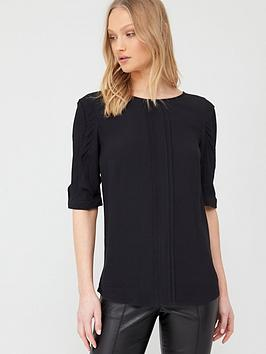 Oasis Oasis Drape Sleeve Top - Black Picture