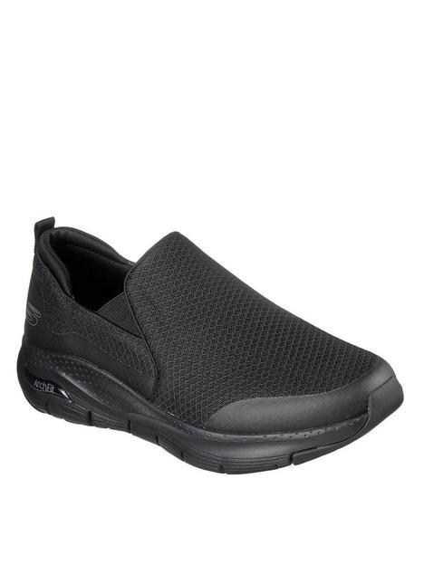 skechers-arch-fit-slip-on-shoe-blackwhite