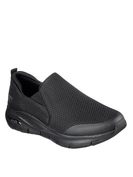 Skechers Skechers Arch Fit Slip On Shoe - Black/White Picture