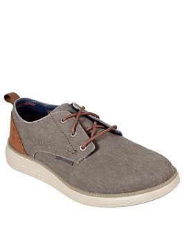 Skechers Skechers Status 2.0 Lace Up Shoes - Taupe Picture