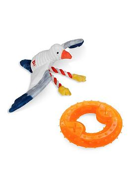 Petface   Sandpiper Sammi Seagull &Amp; Cooling Freeze Ring Toys