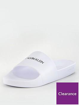 calvin-klein-unisex-sliders-white