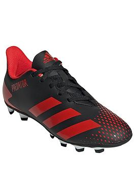 Adidas   Junior Predator 20.4 Flexible Ground Football Boot - Red Black