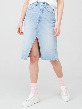 Levi's Levi'S Deconstructed Midi Skirt - Denim Picture