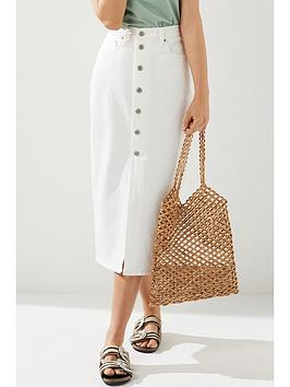 Levi'S Button Front Midi Skirt - White