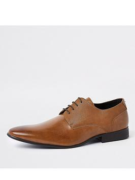 river-island-line-embossed-lace-up-derby-shoes-brownnbsp