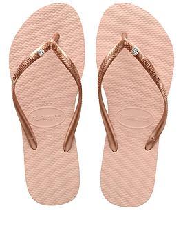 Havaianas Havaianas Slim Crystal Glamour Flip Flop Sandals - Rose Picture