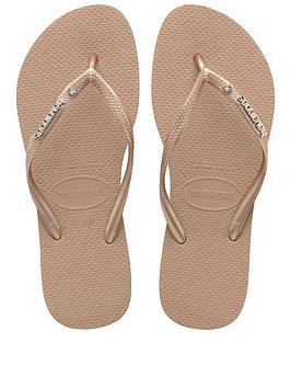 havaianas-slim-metal-logo-amp-crystal-flip-flop-sandals-rose-gold