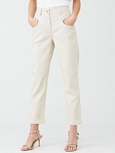 river-island-pu-mom-trouser-cream