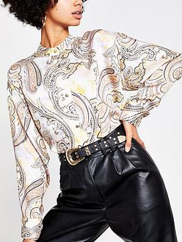 River Island River Island Paisley Print Shirt - Pink Picture