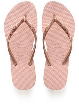 Havaianas  Slim Flip Flop Sandals - Rose